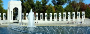 National WWII Memorial in Washington DC